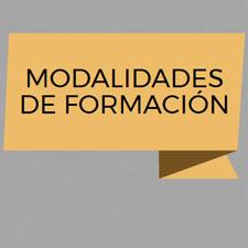 CARTEL INFOGRAFIA MODALIDADES FORMACION